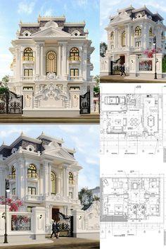 House Outside Design, House Gate Design, Bungalow House Design, House Front Design, Small House Design, Classic House Exterior, Classic House Design, Dream House Exterior, Dream Home Design