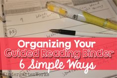 My guided reading binder needs to be organized in order for me to grab lesson plans and take guided reading group notes in seconds. We've just looked at 4 steps to create a guided reading binder now let's keep it organized with these 6 simple recommendations.