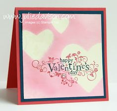 Julie's Stamping Spot -- Stampin' Up! Project Ideas Posted Daily: VIDEO Tutorial: Masked Spritzing Valentine Card