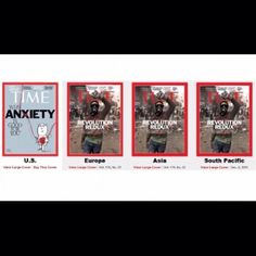 "This is just a great image representing disinformation in #America. All of the other covers of #Time are about revolts in #Egypt. The cover of the US version? ""How Anxiety is good for you"". Can't make that stuff up.  #think"