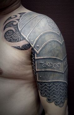 10 Celtic Cross And Armor Tattoo Ideas Full Body Tattoo, Full Sleeve Tattoos, Life Tattoos, Body Art Tattoos, Hand Tattoos, Tattoos For Guys, Buddha Tattoos, Schulterpanzer Tattoo, Norse Tattoo