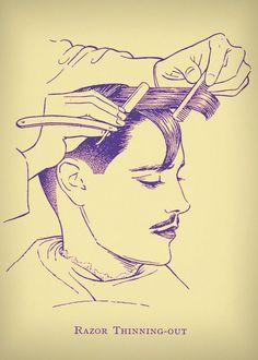 Razor Thinning - Vintage Haircut Inspiration £14.00