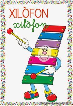 Educació Infantil Brimar: VOCABULARI INSTRUMENTS MUSICALS Music Ed, Music Class, Music Notes, Art Music, Cartoon N, Cartoon Faces, Music Decor, Music Pictures, Colouring Pages