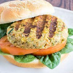 Chickpea Spinach Burgers Recipe