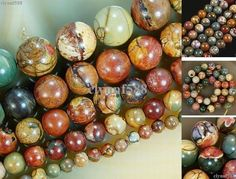 AAA+++ 14mm-4mm Natural Colorful Picasso Jasper Round Gemstone Loose Beads 15'' #NaturalPicasso