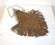 Vintage Carnival Glass Beaded Purse 1920's by GallivantsVintage http://www.etsy.com/listing/83046310/vintage-carnival-glass-beaded-purse