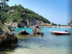 Beaches in Corfu, Corfu, Greece, Paleokastrita coast view