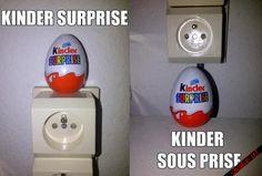 Kinder surprise et Kinder… – Puns