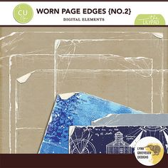 Worn Page Edges No2 by Lynn Grieveson.  Available at The Lily Pad.