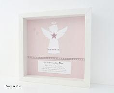 Schutzengel Bild Kunstdruck Engelsform groß rosa 1, Taufgeschenk, Schutzengel zur Geburt, Schutzengel zur Taufe