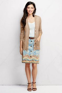 Women's Chino A-line Skirt - Pattern from Lands' End