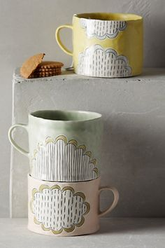 Cute hand painted tea cups.