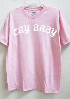 5de0d63f1765e Femme 2016 Cry Baby Pink Cute Cotton Women Men s Unisex Summer Short Sleeve  Basic T-shirt Oversize Funny Fashion Plus Size