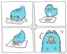 8 best kawaii capoo images on pinterest blue cats comics and