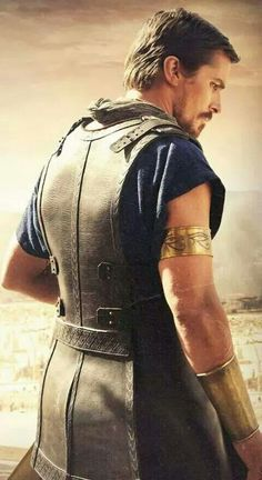 MOSES played by CHRISTIAN BALE IN EXODUS : THE GODS AND THE KINGS.