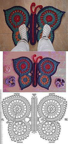 Crochet Freetress - How to Crochet For Beginners Crochet Mat, Crochet Rug Patterns, Crochet Carpet, Crochet Diagram, Crochet Home, Crochet Crafts, Crochet Doilies, Crochet Stitches, Crochet Projects
