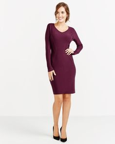Let your beauty shine with this long sleeve rib detail dress! Featuring a rounded neck and flattering rib details at the sides, this simple dress will turn heads! Pair it with matching ankle boots for a sophisticated look.<br /><br />Ready to wear for: the office, a special event, a date