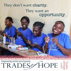 Trades of Hope Giveaway on the blog today // Haitian women making beads