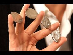 How to Do the Four Coin Flourish | Coin Tricks - Great party trick!