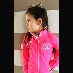 A personal favorite from my Etsy shop https://www.etsy.com/listing/256844678/monogrammed-fleece-jacket