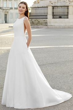 Style 11151: Classic A-Line Gown with Sabrina Neckline and Low Back | Adore by Justin Alexander Anne Barge Wedding Dresses, Dream Wedding Dresses, Wedding Dress Necklines, Necklines For Dresses, Allure Bridal, Justin Alexander, Sabrina Neckline, A Line Gown, Bride