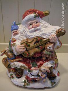 Vintage Santa Cookie Jar Fitz & Floyd Forest Festival