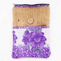 Burlap iPad Case made with re-purposed Sari's http://beautyforashesnepal.com/collections/repurposed-sari/products/ipad-sleeve