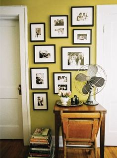 I love this wall - so well laid out and even though its full, it doesn't seem cluttered