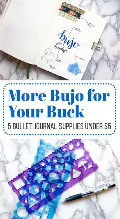It's easy to get lost in a sea of stationery when you dive into the bullet journal world. There are so many options! But sometimes your budget isn't able to withstand a bunch of fancy pens and accessories. Thankfully, you don't need to have a fat wallet to have an incredible bullet journal. Check out this list of five bullet journal supplies that won't cost an arm and a leg! via @LittleCoffeeFox