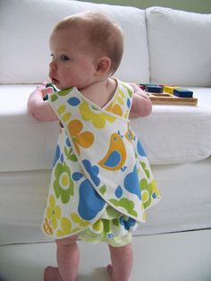 Love a Pinafore as a cover up. Baby and Toddler Pinafore Dress Sewing Pattern, PDF Tutorial (sizes EMMA Dress Sewing For Kids, Baby Sewing, Little Girl Dresses, Little Girls, Baby Girls, Baby Patterns, Sewing Patterns, Cloth Patterns, Dress Patterns