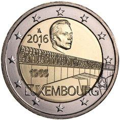 2€ cc 2016 Luxemburgo – Puente Duquesa Carlota