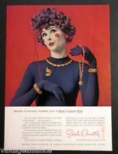 """Vintage 1961 Sarah Coventry Jewelry """"Makes you a Real Living Doll"""" 60's Print Ad"""