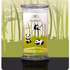 Bamboo CandleCool and calming, this complex fragrance is as refreshing as the plant that inspires it. Top notes of tangerine and bergamot are followed by soothing notes of honeysuckle, lily, jasmine and fresh rose. Finished with soft sandalwood and cedar, this intriguing scent will transform your home into a place of zen.    #candle #jicscents #jewelry