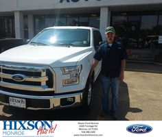 https://flic.kr/p/HRFArk | Happy Anniversary to Robbie on your #Ford #F-150 from Scott Turner at Hixson Ford of Monroe! | deliverymaxx.com/DealerReviews.aspx?DealerCode=M553