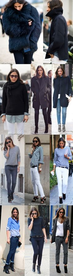 style with Capucine Safyurtlu Fashion & Market Editor of Vogue Paris. Simple, lots of B&W, with a little edge