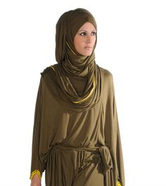 -Classic Rabia Z. Wrap Hijab Style & Conservative Couture Jumpsuit
