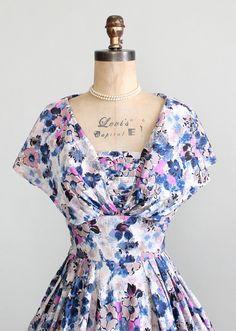 1950s Shawl Collar Silk Dress