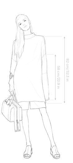 Fashion Illustration Poses, Illustration Mode, Illustrations, Fashion Design Template, Fashion Templates, Textiles Sketchbook, Fashion Sketchbook, Fashion Design Drawings, Fashion Sketches