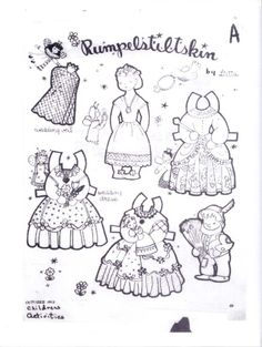 1384 Best Paper Doll Black and