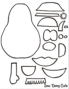 Felt Mr. Potato Head templates
