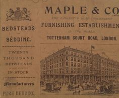 Maple & Co. Bedsteads and bedding: twenty thousand bedsteads of every description in stock, manufacturers of pure bedding, 1895. Metropolitan Museum of Art (New York, N.Y.). Thomas J. Watson Library. Trade Catalogs.