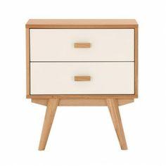 Sofia Bedside Table - 2 Drawers - Scandinavian Furniture - Milan Direct