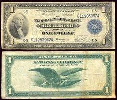 one dollar bill- blue seal