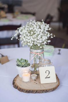 Sage Green Wedding Color Ideas for 2020 Planning a 2020 wedding? Bride and groom will first of all choose their colors and themes. We've got some uniquely beautiful ideas---silver sage wedding color. Succulent Wedding Centerpieces, Wedding Flower Arrangements, Centerpiece Ideas, Succulent Table Decor, Wooden Centerpieces, Centerpiece Flowers, Wood Slice Centerpiece, Wedding Flowers, Floral Arrangements