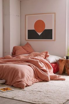 20 Brilliant Minimalist Bohemian Bedroom Design Ideas - Bohemian Home Bedroom Comfy Bedroom, Ikea Bedroom, Bedroom Decor, Bedroom Ideas, Master Bedroom, Bed Ideas, Bedroom Inspo, Bedroom Wall, Wall Decor