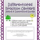 This is a bundle of two different adding and subtracting fraction activities. You get both activities: Differentiated Math Centers Like and Unlike ...