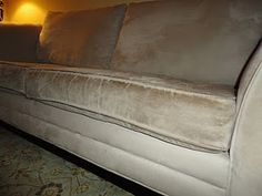 How to clean a microfiber couch!  Looks like I have a project this week!