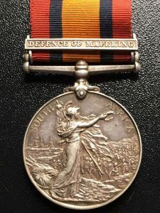 Queen's South Africa Medal with 'Defence of Mafeking' clasp: Siege of Mafeking 14th October 1899 to 16th May 1900 in the Great Boer War