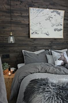 Svenngården: The mountain cabin Rustic Bedroom Design, Home Decor Bedroom, Condo Design, House Design, Interior Design, Mountain Bedroom, Rustic Cabin Decor, Condo Decorating, Small Space Living