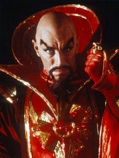 Ming the Merciless (Flash Gordon). Evil but not scary. His fashion is the only thing that is fierce.